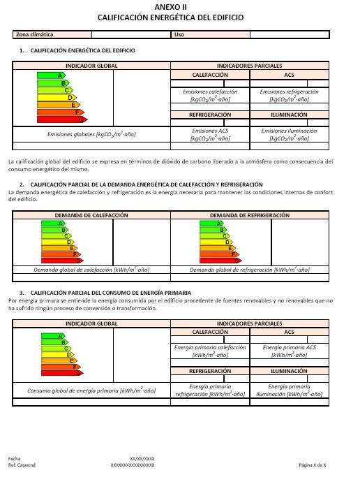 Ejemplo y modelo de certificado de eficiencia energ tica de edificios certificaci n energ tica - Ejemplo certificado energetico piso ...