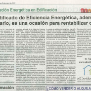 Especial La Razón sobre Certificación Energética en Edificación